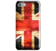 United Kingdom Flag Grunge iPhone Case/Skin