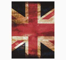 United Kingdom Flag Grunge Kids Tee