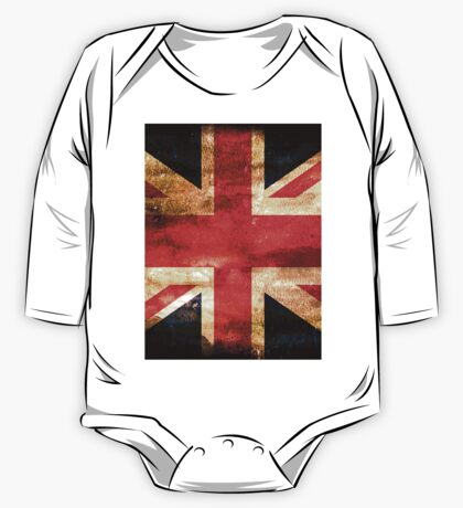 United Kingdom Flag Grunge One Piece - Long Sleeve