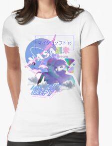 NASA Alien vaporwave aesthetics Womens Fitted T-Shirt