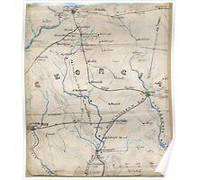 Civil War Maps 0441 Georgia Poster