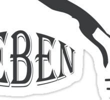 RESPEKTIERE LEBEN - WERDE VEGAN Sticker