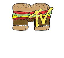 MTV Burger Logo Photographic Print