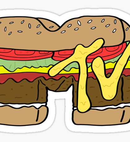 MTV Burger Logo Sticker