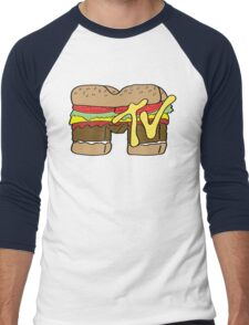 MTV Burger Logo Men's Baseball ¾ T-Shirt