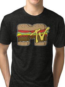 MTV Burger Logo Tri-blend T-Shirt