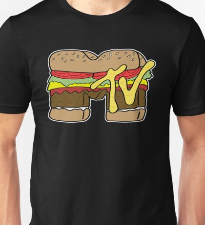 MTV Burger Logo Unisex T-Shirt