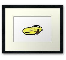 Convertible yellow japan car Framed Print