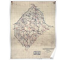 Civil War Maps 1499 Rappahannock Co Virginia Poster