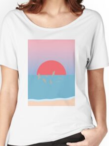 Frolicking at Sunset Women's Relaxed Fit T-Shirt
