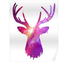 Space and deer modern poster  Poster