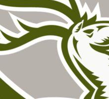 Stag Deer Retro Woodcut Shield Sticker