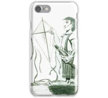 A boy and his kite iPhone Case/Skin