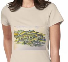 San Gimignano Italy 2015 pen and wash  Womens Fitted T-Shirt