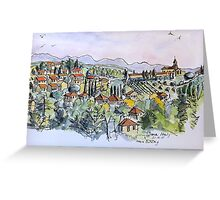 Siena, Italy. 2015© pen and wash Greeting Card