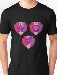 My little Pony - Crusaders Cutie Mark Black Unisex T-Shirt