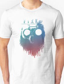 Fixed gear, bike, cycling, skull emblem T-Shirt