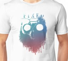 Fixed gear, bike, cycling, skull emblem Unisex T-Shirt