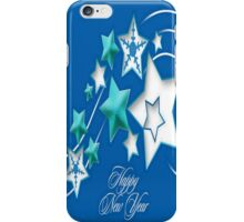 Jade and Blue Happy New Year Shooting Stars iPhone Case/Skin