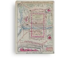 Civil War Maps 0032 Andersonville Prison Georgia in July 1864 Canvas Print