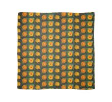Orange Marigold Triptych Scarf
