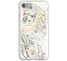 pastel birdies iPhone Case/Skin