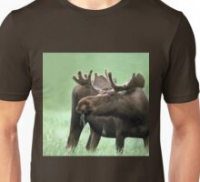 Moose with Velvet Antlers at Yellowstone NP Unisex T-Shirt
