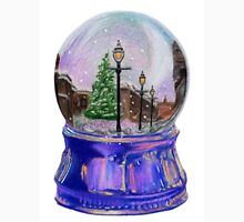 Snowing Street with Lamppost Snow Globe Unisex T-Shirt