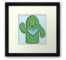 Mr J.G Cactus (sky) Framed Print