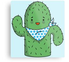 Mr J.G Cactus (sky) Metal Print
