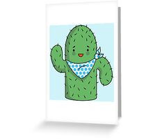 Mr J.G Cactus (sky) Greeting Card