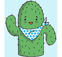 Mr J.G Cactus (sky) Photographic Print