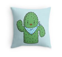 Mr J.G Cactus  Throw Pillow