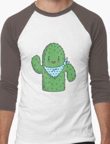 Mr J.G Cactus (sky) Men's Baseball ¾ T-Shirt