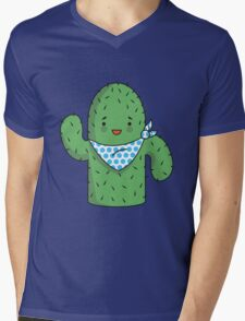 Mr J.G Cactus (sky) Mens V-Neck T-Shirt