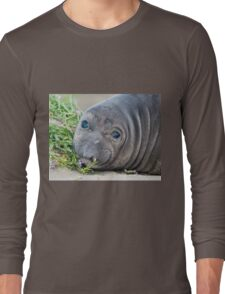 Cute Northern Elephant Seal Pup at Piedras Blancas Long Sleeve T-Shirt