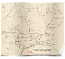 Civil War Maps 0693 Map of Chickamauga and Chattanooga National Military Park Poster