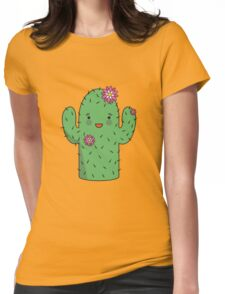 Mrs J.G Cactus (sky) Womens Fitted T-Shirt
