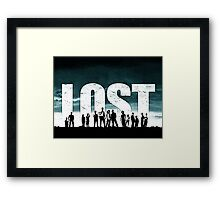 Lost - Title and Characters Framed Print