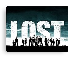Lost - Title and Characters Canvas Print