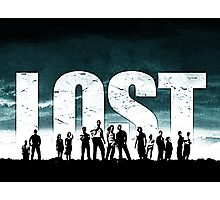 Lost - Title and Characters Photographic Print