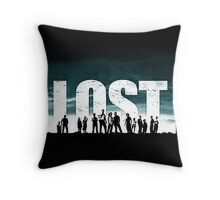 Lost - Title and Characters Throw Pillow