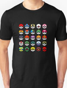Pixel Pokeball Design [RE] Unisex T-Shirt