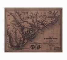 Civil War Maps 0801 Map of St Helena Sound and the coast between Charleston and Savannah Baby Tee