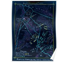 Civil War Maps 1387 Plan of the battle of Mill Spring or Logan's Cross Roads fought January 19th 1862 Inverted Poster