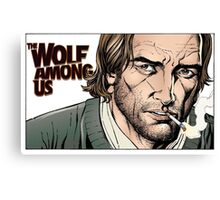 Bigby wolf, from the The wolf among us and Fables Canvas Print