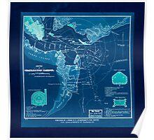 Civil War Maps 1610 Sketch of Charleston Harbor Inverted Poster