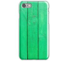 Green Wooden Planks iPhone Case/Skin