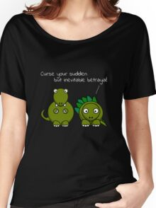 Curse your sudden but inevitable betrayal! (White Text) Women's Relaxed Fit T-Shirt