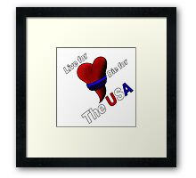 Warriors Heart Framed Print